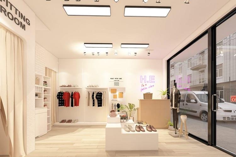 thiết kế cửa hàng quần áo nữ đẹp