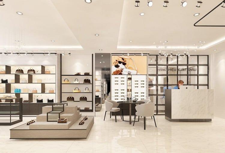 Thiết kế cửa hàng túi xách đẹp