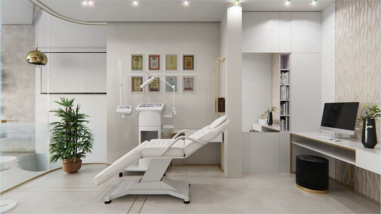 Thiết kế phòng phun xăm thẩm mỹ hiện đại