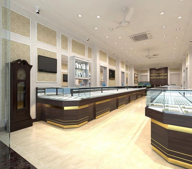 Cửa hàng vàng bạc đẹp