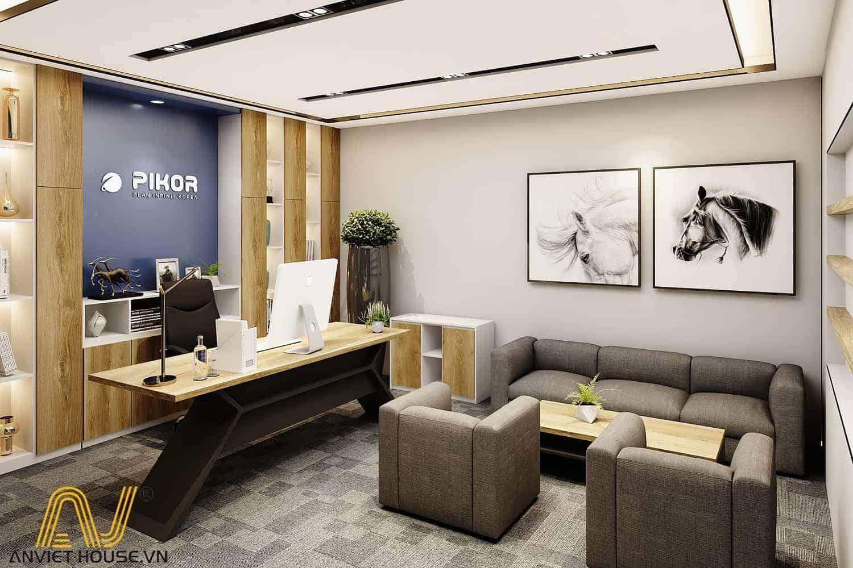 nội thất văn phòng công ty PIKOR - An Viet House thiết kế