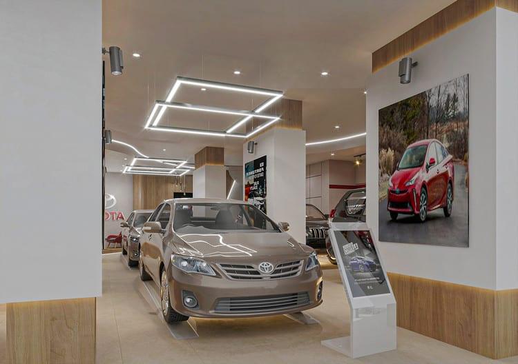 Thiết kế showroom ô tô đẹp
