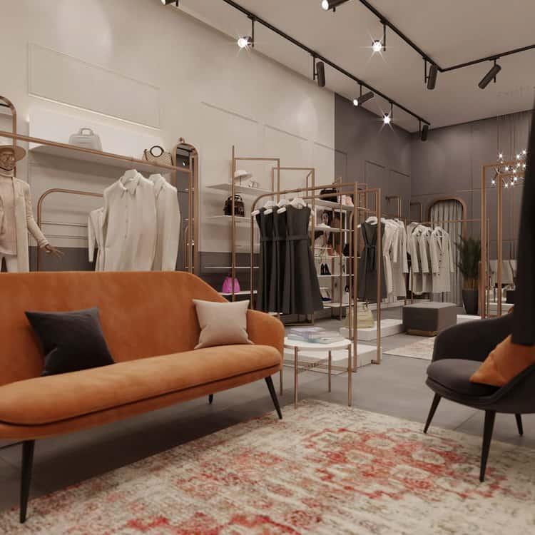 Mẫu showroom thời trang sang trọng