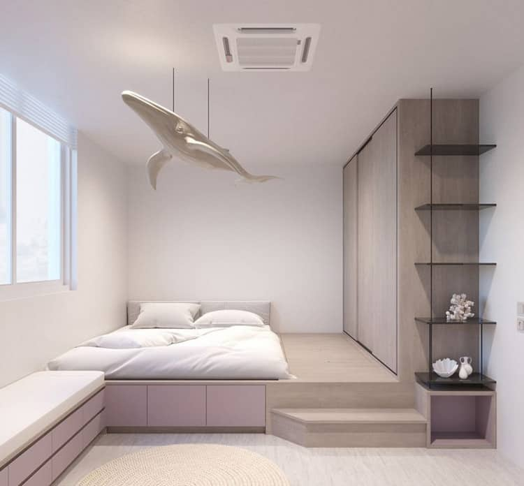 Giường ngủ gỗ công nghiệp dạng bục