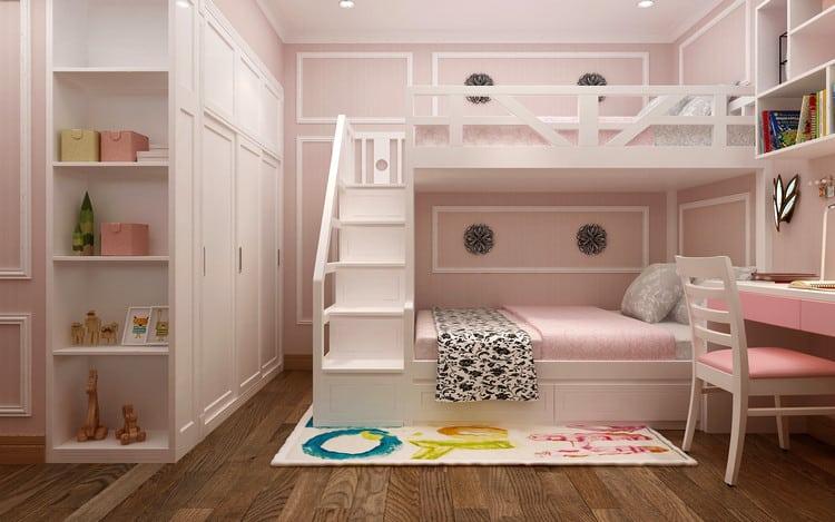 Giường tầng cho bé sử dụng gỗ công nghiệp