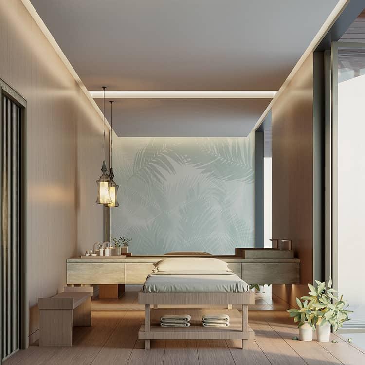 Thiết kế phòng massage hiện đại