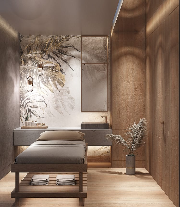 Mẫu thiết kế phòng massage hiện đại