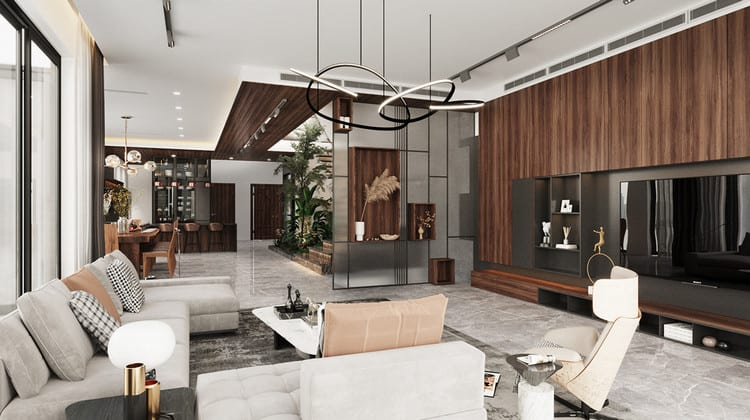 Thiết kế nội thất biệt thự hiện đại