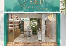 thiết kế nội thất shop mỹ phẩm làm đẹp - shop Đẹp More Hà Đông