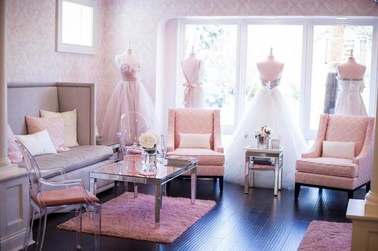 Thiết kế khu vực chờ trong tiệm váy cưới