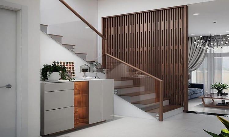 Lam gỗ trang trí, bao bọc cầu thang