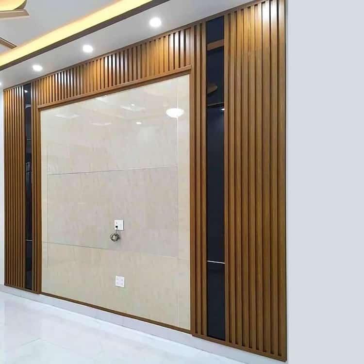 ốp gỗ tường phòng khách