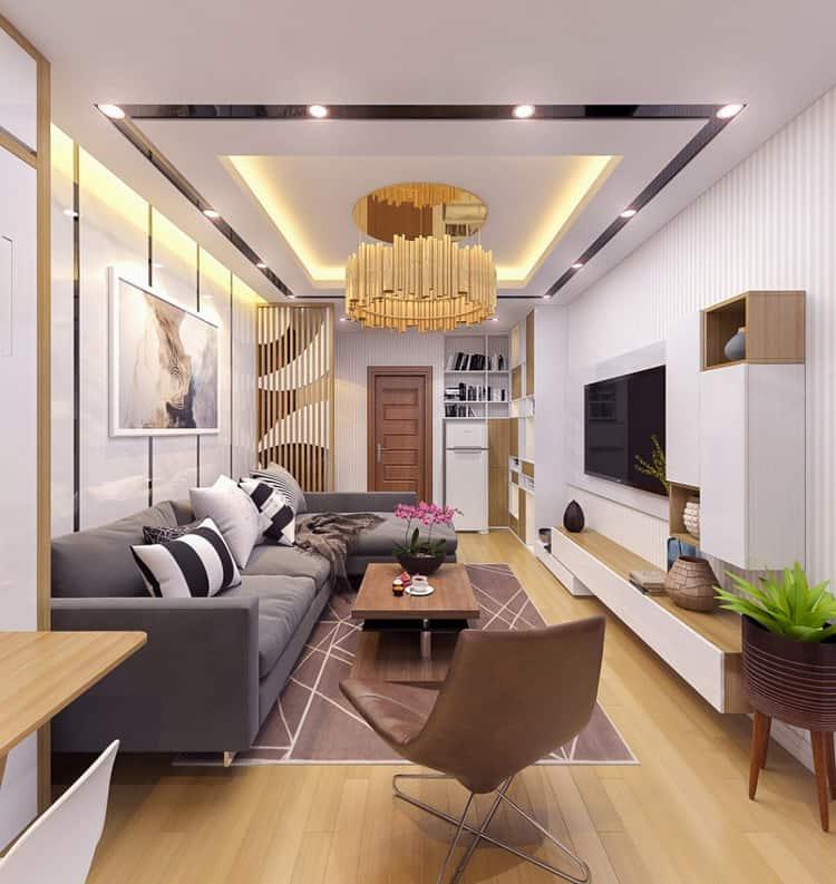 Nội thất phòng khách nhà ống 4m