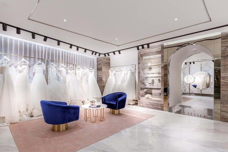 thiết kế phòng thử váy cưới hiện đại