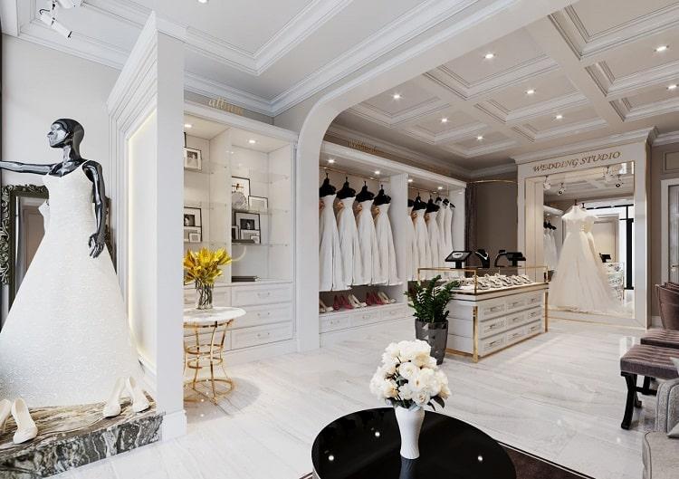 thiết kế phòng thử váy cưới