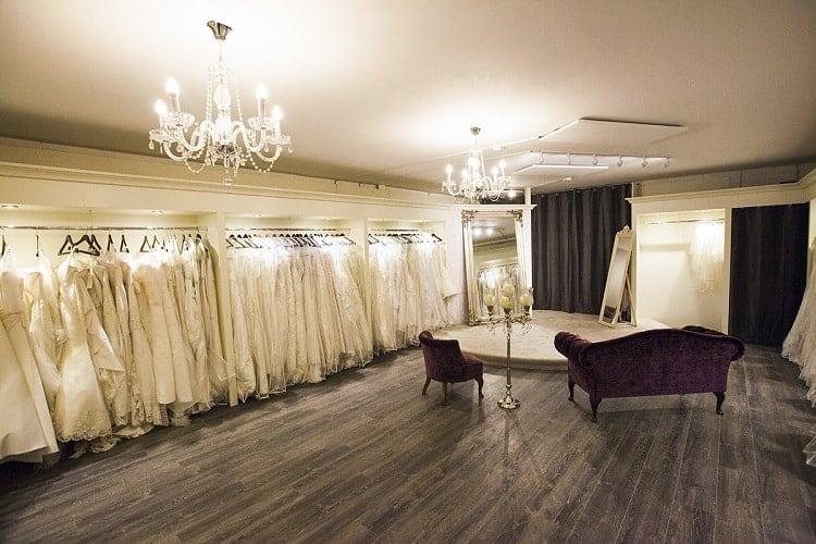 thiết kế phòng thử váy cưới sang trọng