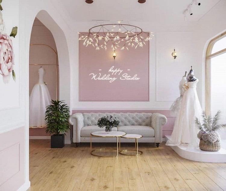 tiệm váy cưới theo phong thủy
