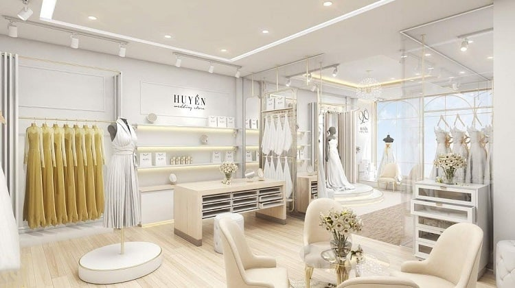 thiết kế showroom áo cưới nhỏ