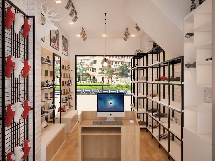 mẹo trang trí nội thất trong cửa hàng giày dép