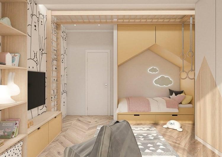 mẫu thiết kế phòng ngủ đẹp cho bé gái