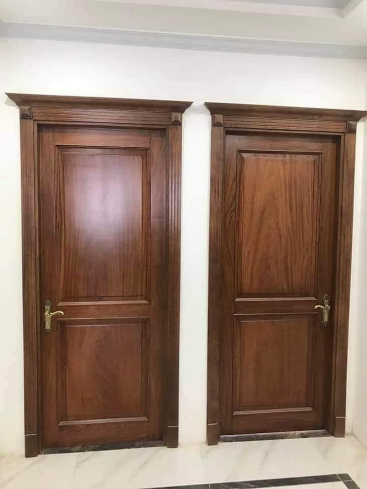 cửa 1 cánh gỗ sồi sơn màu óc chó