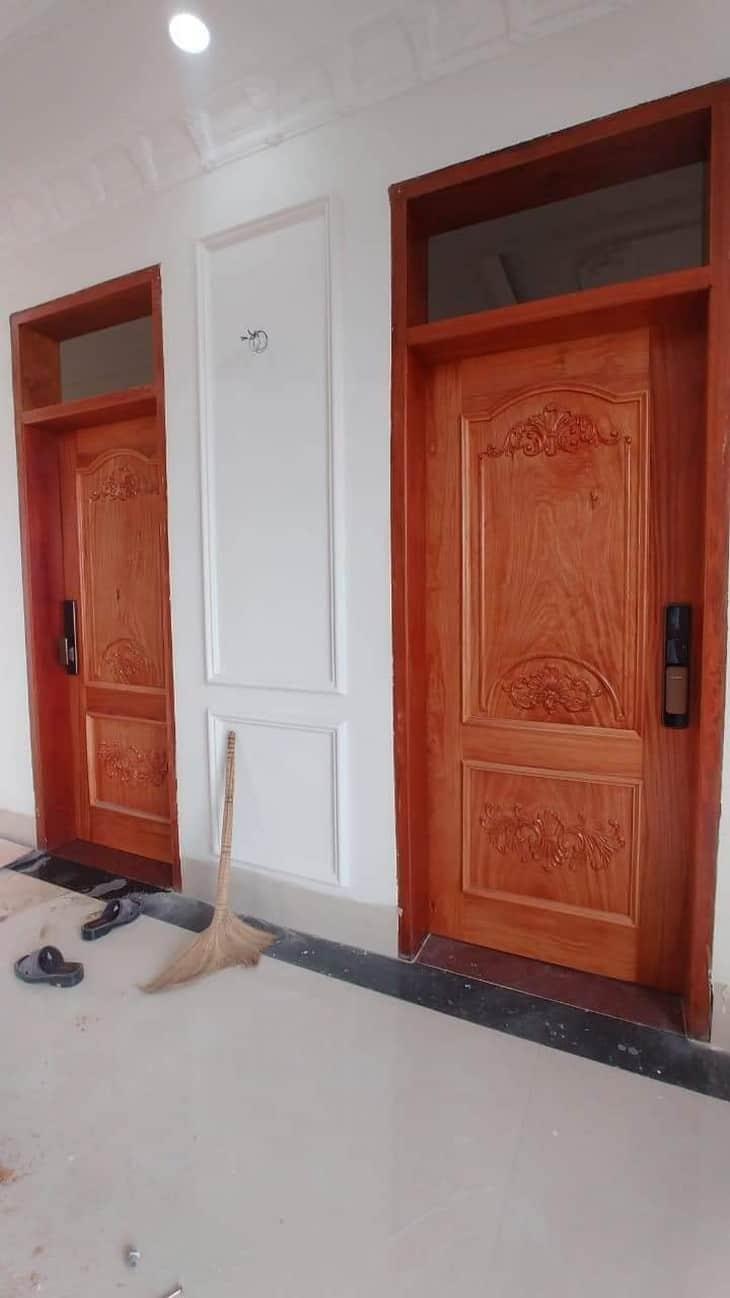 cửa 1 cánh gỗ gõ đỏ
