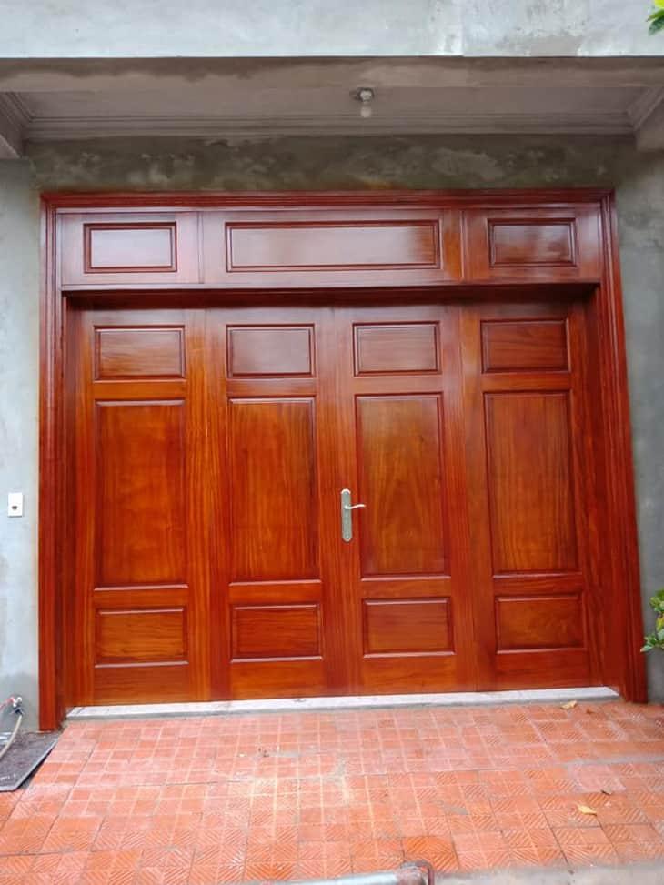 cửa gỗ lim 4 cánh đẹp