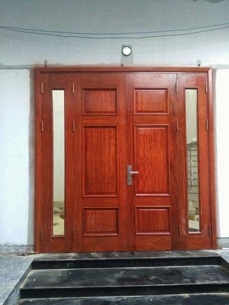 mẫu cửa gỗ lim nam phi đẹp