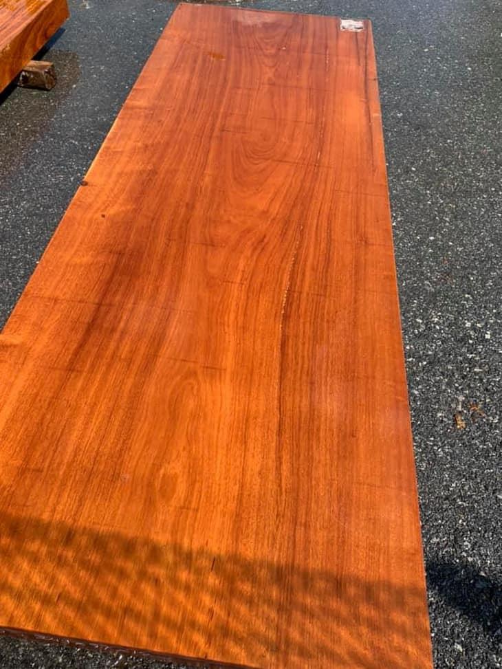 mặt bàn ăn liền khối gỗ gõ đỏ