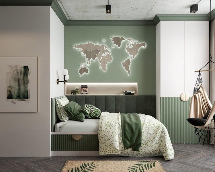 mẫu nội thất phòng ngủ nhỏ cho bé trai