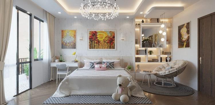 thiết kế phòng ngủ cho bé gái lớn