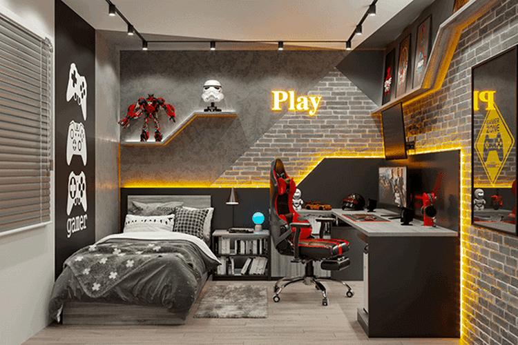 phòng ngủ gamer độc đáo và ấn tượng