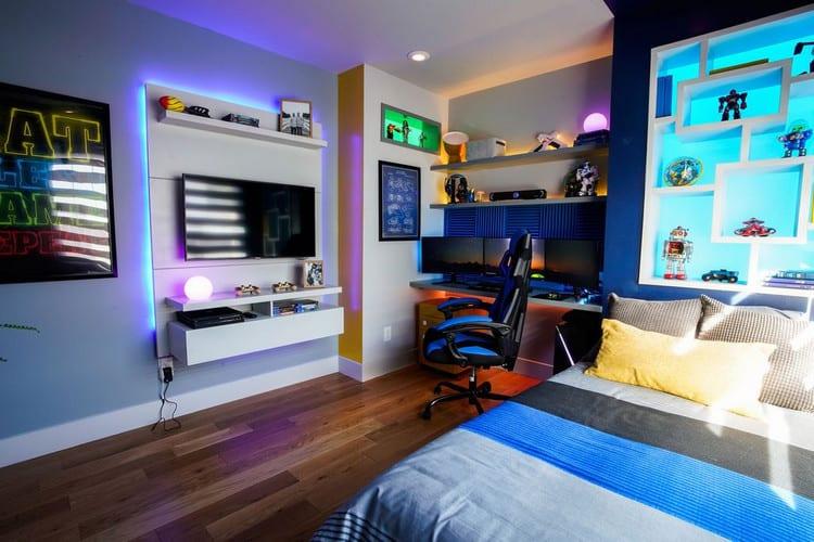 thiết kế phòng ngủ gamer sáng tạo