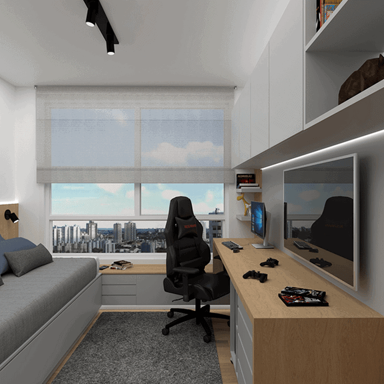 phòng ngủ gaming hiện đại