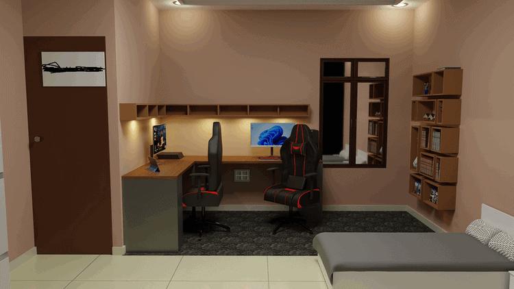 mẫu thiết kế phòng ngủ gaming đẹp