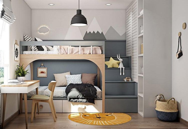 phòng ngủ với giường tầng