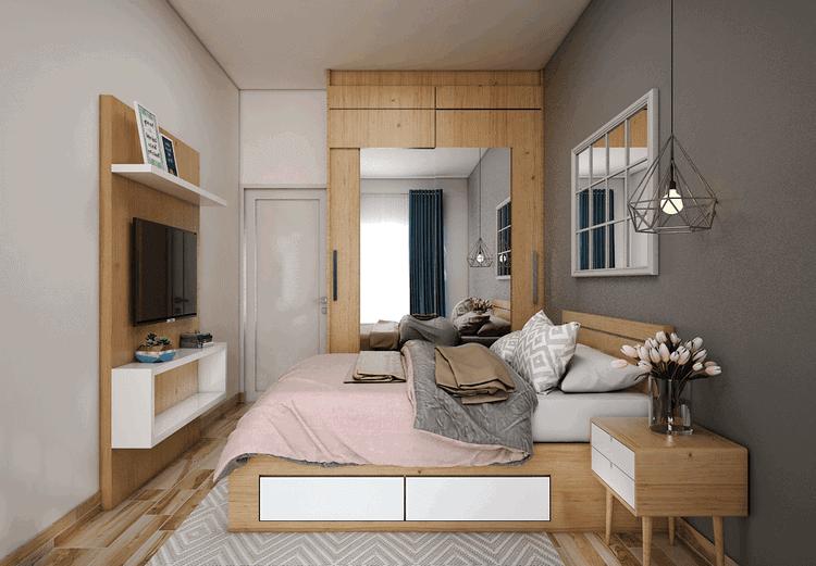 thiết kế phòng ngủ nữ nhỏ đẹp