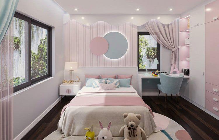 mẫu nội thất phòng ngủ đẹp cho bé gái