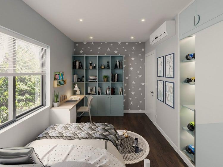 thiết kế phòng ngủ nhỏ cho bé trai