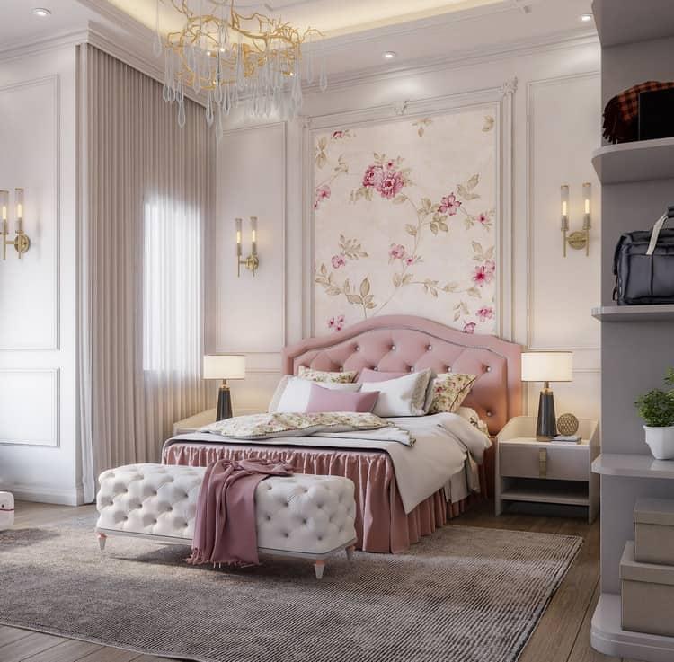 thiết kế phòng ngủ nữ sang trọng