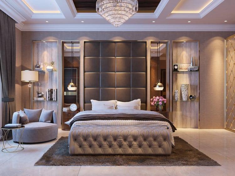 Mẫu thiết kế nội thất phòng ngủ tân cổ điển sang trọng