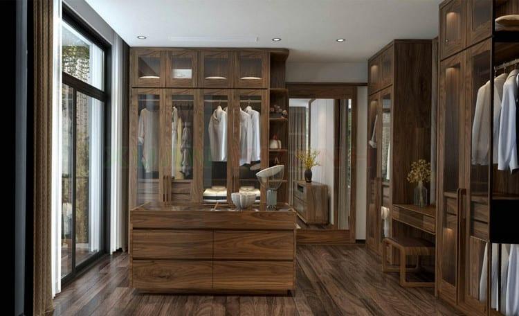 mẫu tủ quần áo gỗ tự nhiên đẹp, hiện đại
