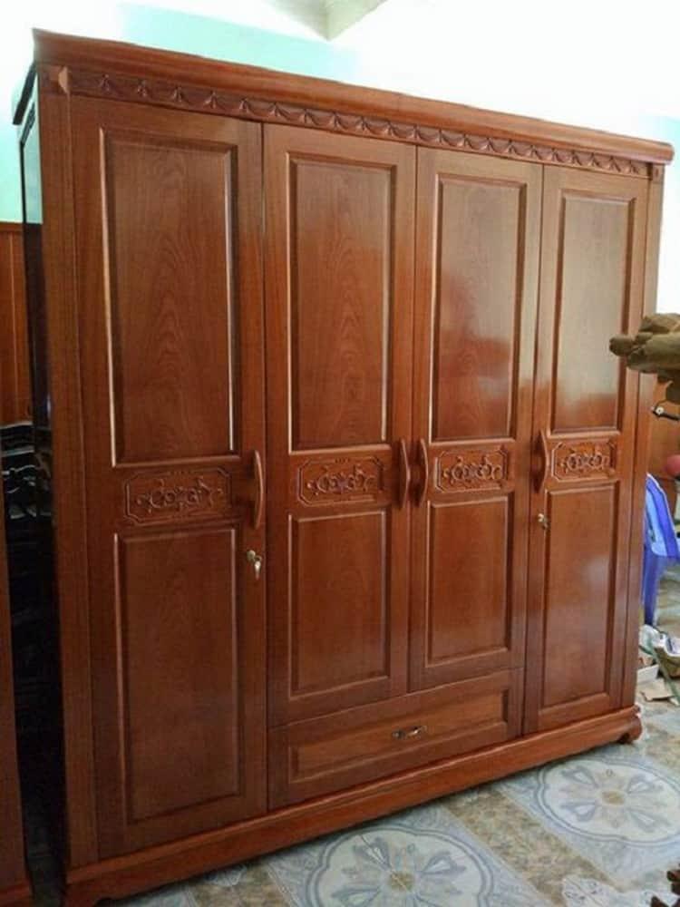 mẫu tủ quần áo gỗ xoan đào đẹp