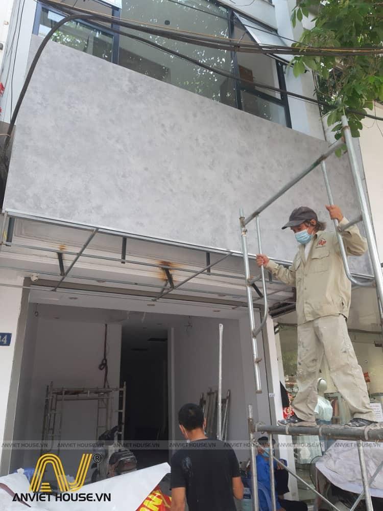 An Viet House thi công mặt tiền showroom spa mỹ phẩm Daysaki Cầu Giấy