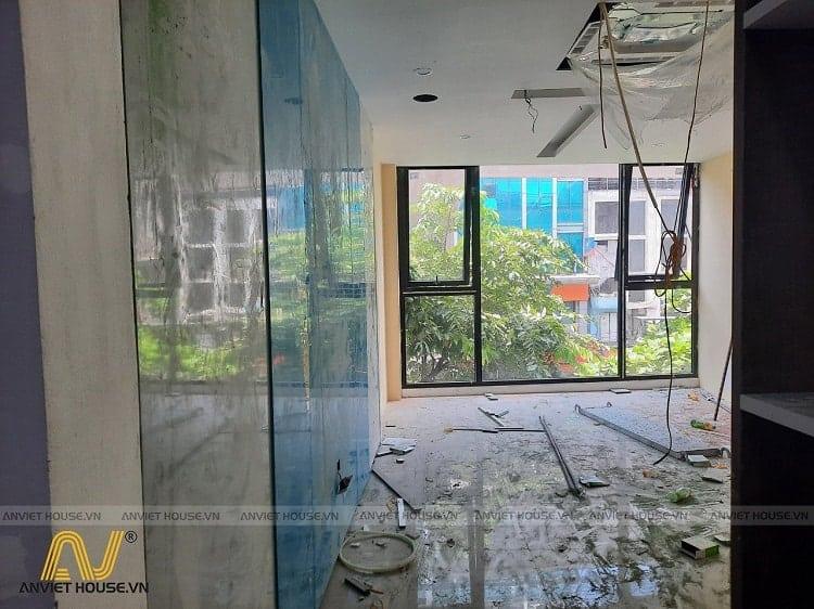 An Viet House thi công nội thất showroom spa mỹ phẩm Daysaki Cầu Giấy