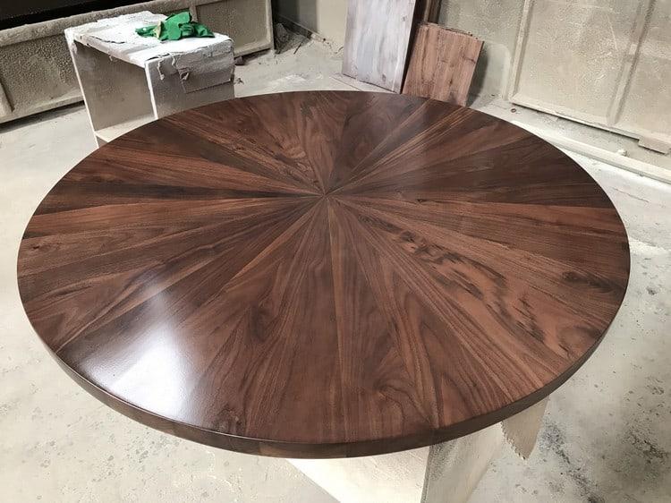 mặt bàn hình tròn