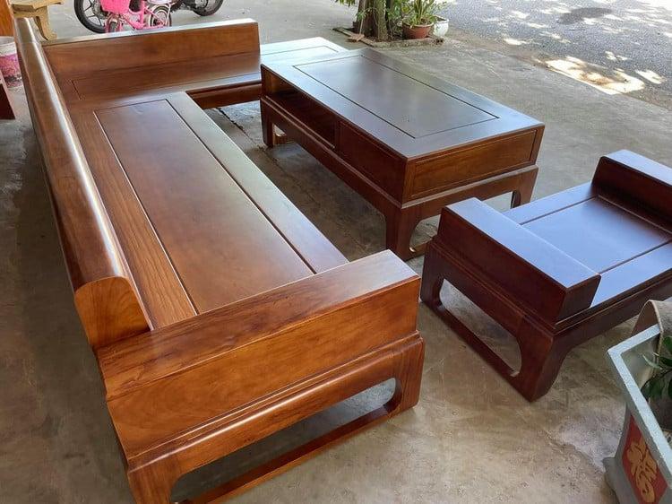 bàn ghế sofa gõ đỏ hiện đại