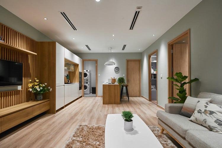 nội thất phòng bếp nhà ống 5m thiết kế mở