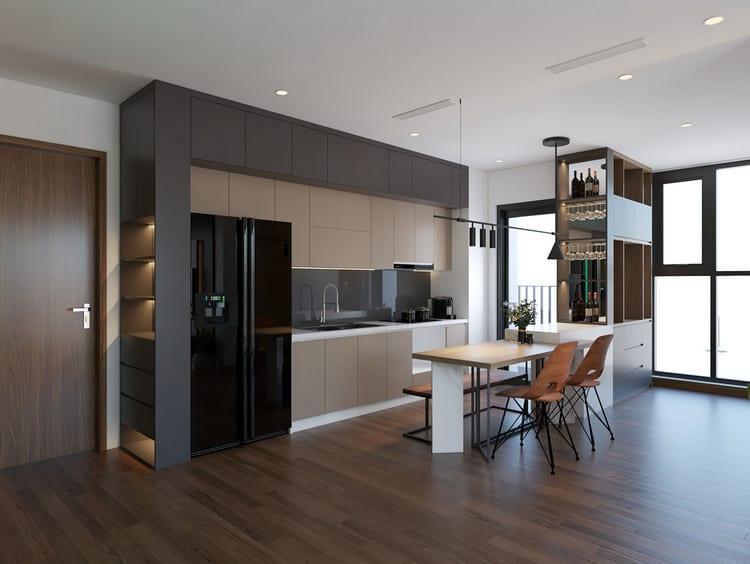 mẫu thiết kế nhà bếp và phòng ăn