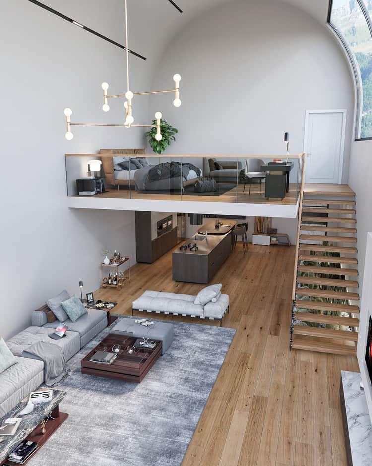 thiết kế căn hộ chung cư có tầng lửng